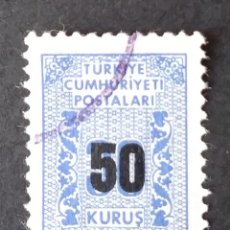 Sellos: SELLO OFICIAL 1963 TURQUÍA. Lote 222252806