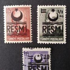 Sellos: SELLOS OFICIALES 1957 TURQUÍA. Lote 222386898