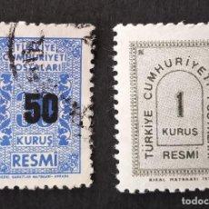 Sellos: SELLOS OFICIALES 1963 TURQUÍA. Lote 222481591
