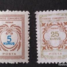 Sellos: SELLOS OFICIALES 1971 TURQUÍA. Lote 222481968