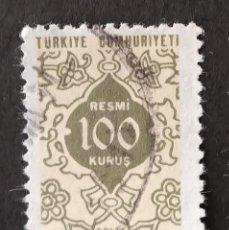 Sellos: SELLO OFICIAL 1972 TURQUÍA. Lote 222483303