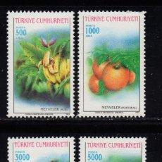 Sellos: TURQUIA 2728/31** - AÑO 1993 - FLORA - FRUTOS. Lote 222575885