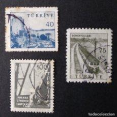 Sellos: 1960 TURQUÍA INDUSTRIA Y TECNOLOGÍA. Lote 222689513