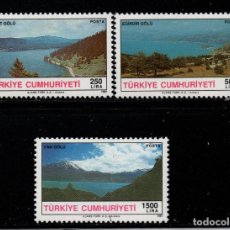 Sellos: TURQUIA 2666/68** - AÑO 1991 - LAGOS DE TURQUIA. Lote 222818341