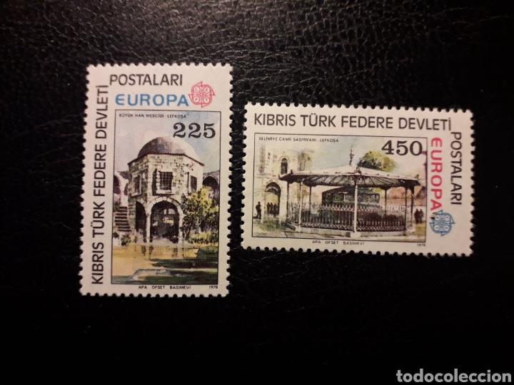 CHIPRE TURCO (TURQUÍA) YVERT 46/7. SERIE COMPLETA NUEVA CON CHARNELA. 1978. EUROPA CEPT MONUMENTOS (Sellos - Extranjero - Europa - Turquía)