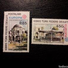 Timbres: CHIPRE TURCO (TURQUÍA) YVERT 46/7. SERIE COMPLETA NUEVA CON CHARNELA. 1978. EUROPA CEPT MONUMENTOS. Lote 223052420