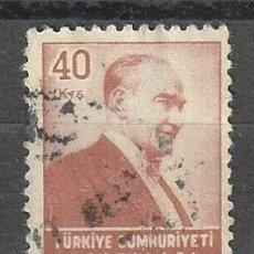 Sellos: TURQUIA, 40 KURUS,KAMAL ATATURK, AÑO 1970. USADO. Lote 223225177