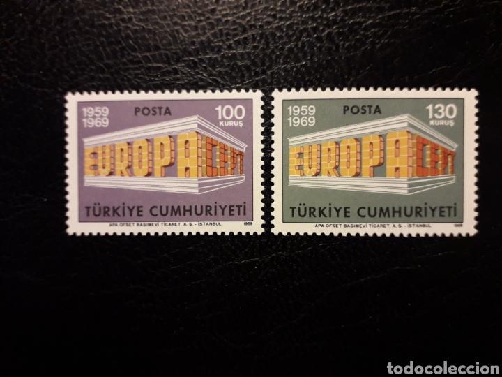 TURQUÍA YVERT 1891/2 SERIE COMPLETA NUEVA ***. EUROPA CEPT 1969. (Sellos - Extranjero - Europa - Turquía)