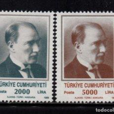 Sellos: TURQUIA 2610/11** - AÑO 1989 - ATATURK. Lote 225603575