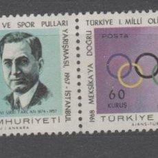 Sellos: TURQUIA 1967.. Lote 226977180