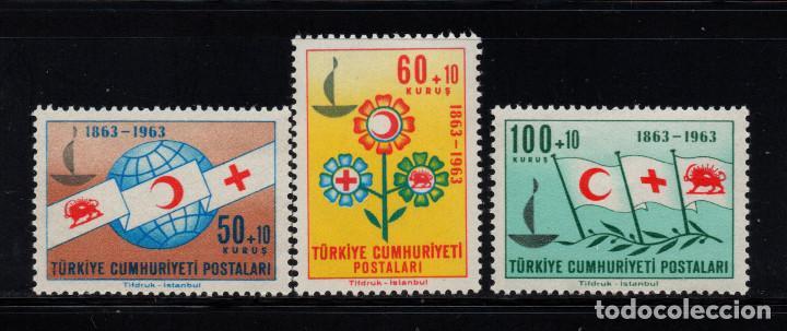 TURQUIA 1664/66** - AÑO 1963 - CENTENARIO DE LA CRUZ ROJA INTERNACIONAL (Sellos - Extranjero - Europa - Turquía)