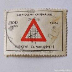 Sellos: TURQUÍA. SELLO USADO DE 100 KURUS, DE 1969. INDUSTRIA. ENVÍO GRATIS POR PEDIDOS DE 3€ O MÁS.. Lote 231288880