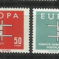 Sellos: 5577-MNH** SERIE COMPLETA TURQUIA EUROPA 1963 Nº 1672/3.. Lote 235800275