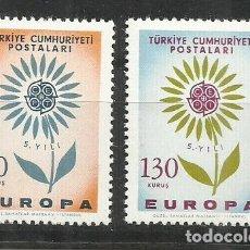 Sellos: 5582-MNH** SERIE COMPLETA TURQUIA EUROPA 1964 Nº 1697/8. Lote 235800925