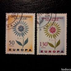 Sellos: TURQUÍA YVERT 1697/8 SERIE COMPLETA USADA 1964 EUROPA CEPT. PEDIDO MÍNIMO 3 €. Lote 237415920
