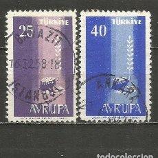 Sellos: TURQUIA YVERT NUM. 1412/1413 SERIE COMPLETA USADA. Lote 244728320
