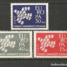 Sellos: TURQUIA YVERT NUM. 1599/1601 SERIE COMPLETA NUEVA SIN GOMA EUROPA. Lote 244729570