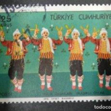 Sellos: TURQUIA 1975. FOLK DANCING 5V. YT:TR 2131,. Lote 244910625