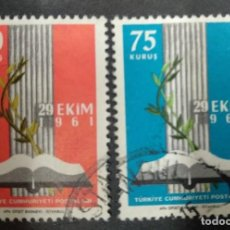 Sellos: TURQUIA 1961. INAUGURATION OF THE NEW PARLIAMENT. YT:TR 1609-10. Lote 244917835