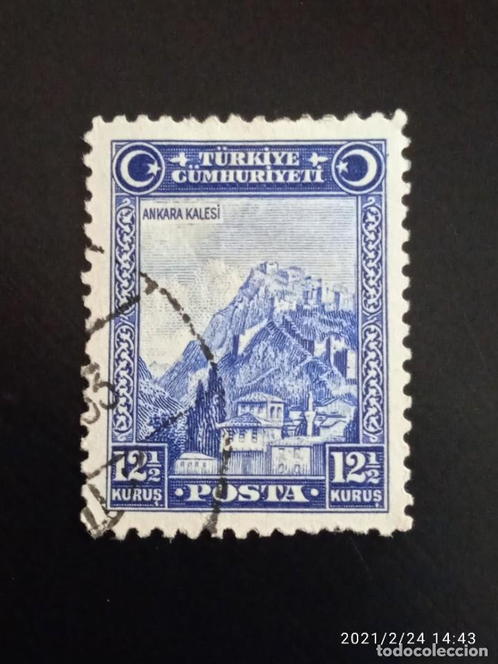 TURQUIA 12,1/2 KURUS, ANCARA CALESI, AÑO 1926. (Sellos - Extranjero - Europa - Turquía)