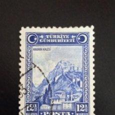 Sellos: TURQUIA 12,1/2 KURUS, ANCARA CALESI, AÑO 1926.. Lote 245102290