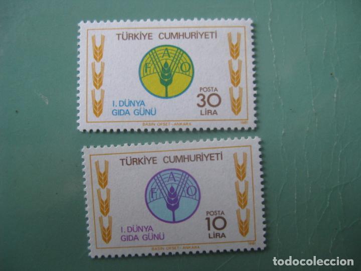 -TURQUIA, 1981, DIA MUNDIAL DE LA ALIMENTACION, YVERT 2340/1 (Sellos - Extranjero - Europa - Turquía)