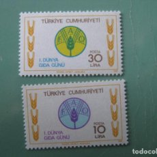 Sellos: -TURQUIA, 1981, DIA MUNDIAL DE LA ALIMENTACION, YVERT 2340/1. Lote 245734185
