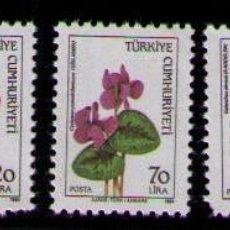 Sellos: TURQUIA 1984 - FLORES - YVERT Nº 2440/2444**. Lote 262790830