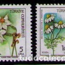 Sellos: TURQUIA 1985 - FLORES - YVERT Nº 2460 Y 2473**. Lote 262791160
