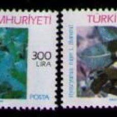 Sellos: TURQUIA 1988 - FLORES MEDICINALES - YVERT Nº 2588/2591**. Lote 262791470