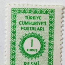 Sellos: SELLO DE TURQUIA 1 K - 1965 - NUMERO - NUEVO SIN SEÑAL DE FIJASELLOS. Lote 268310714