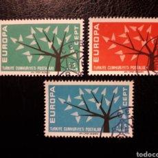 Sellos: TURQUÍA YVERT 1627/8 SERIE COMPLETA USADA 1962 EUROPA CEPT PEDIDO MÍNIMO 3 €. Lote 277204963