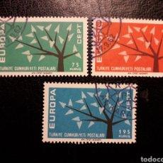 Sellos: TURQUÍA YVERT 1627/8 SERIE COMPLETA USADA 1962 EUROPA CEPT PEDIDO MÍNIMO 3 €. Lote 277204973