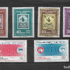 Sellos: TURQUIA 1963 Y 1981, SERIE 1634/7 Y 2238/9. MNH.. Lote 288906103