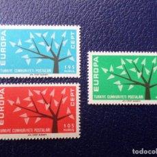 Sellos: TURQUIA, 1962, EUROPA, YVERT 1627/9. Lote 289621943