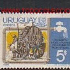 Sellos: URUGUAY 1971. CENTENARIO DEL AGUA POTABLE EN LA CIUDAD DE MONTEVIDEO. Lote 2242455
