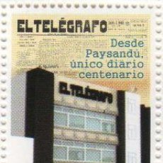 Sellos: 51 URUGUAY 2010 100 AÑOS DIARIO EL TELÉGRAFO DE PAYSANDÚ. Lote 23683796