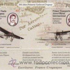 Sellos: 52 URUGUAY 2010 - 100 AÑOS PRIMEROS VUELOS EN EL URUGUAY. Lote 26852203