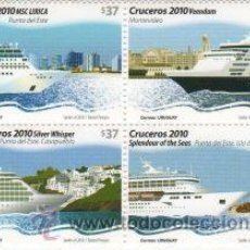 Sellos: 53 URUGUAY 2010 SERIE CRUCEROS. Lote 26852204
