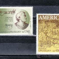 Sellos: URUGUAY 1367/8 SIN CHARNELA, TEMA UPAEP, VIAJES DEL DESCUBRIMIENTO. Lote 23866961