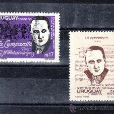 Sellos: URUGUAY 1247/8 SIN CHARNELA, MUSICA, HOMENAJE AL COMPOSITOR GERARDO H. MATOS RODRIGUEZ . Lote 23867331