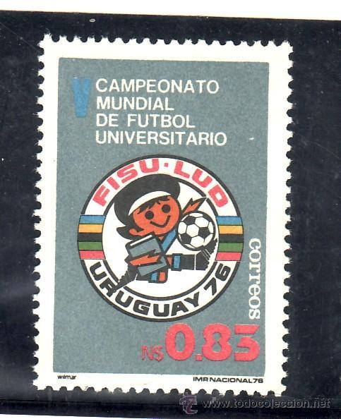 URUGUAY 957 SIN CHARNELA, DEPORTE, 5º CAMPEONATO DEL MUNDO DE FUTBOL UNIVERSITARIO EN MONTEVIDEO (Sellos - Extranjero - América - Uruguay)
