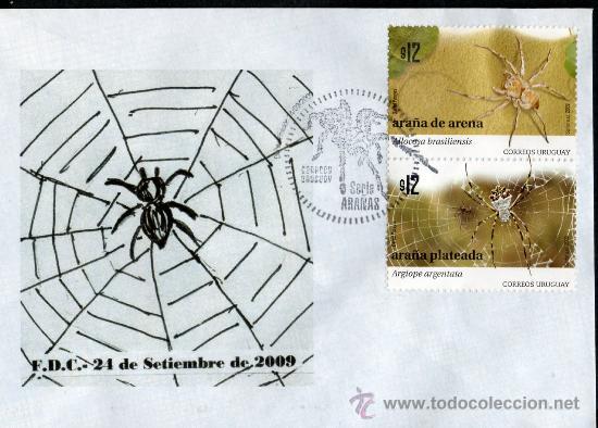 145-URUGUAY- 2011-FDC -SERIES ARAÑAS (Sellos - Extranjero - América - Uruguay)