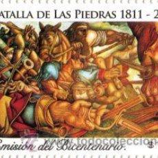 Sellos: 149-URUGUAY- 2011-BATALLA DE LAS PIEDRAS- 5TA EMISIÓN DEL BICENTENARIO. Lote 28958864
