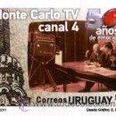 Sellos: 154-URUGUAY- 2011- 50 AÑOS MONTECARLO TV - CANAL 4 -PLANCHA X 25. Lote 28959344