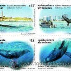 Sellos: 0000-URUGUAY-2011- AVISTAMIENTO DE BALLENAS. Lote 29333752