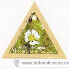 Sellos: 179-URUGUAY-2009-SERIE FLORES - FLECHA DEL AGUA. Lote 29437728