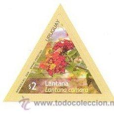Sellos: 180-URUGUAY-2009-SERIE FLORES - LANTANA. Lote 29437783
