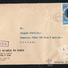 Sellos: 32URUGUAY - 1971 SOBRE CIRCULADO EN MONTEVIDEO-CERTIFICADA. Lote 30235069