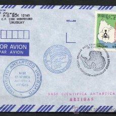 Sellos: 244 - URUGUAY 1992-VUELO A BASE ARTIGAS ANTARCTICA 19/02/1992. Lote 187078905